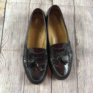 Cole Haan Brown Leather Tassle loafers Shoes